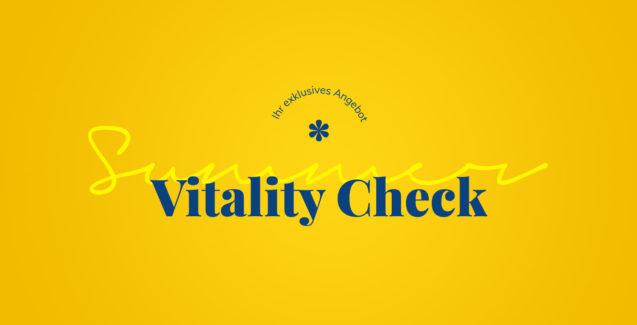 Summer Vitality Check – Ihr 50 Min. Hautcheck