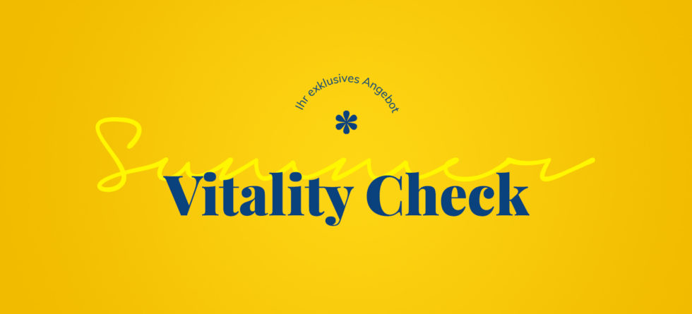 Summer Vitality Check